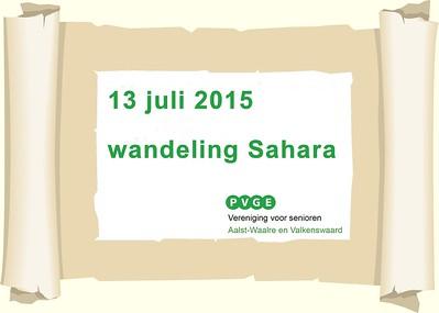 2015-0713 PVGE wandeling in de Sahara