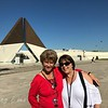 Roddy and Angie at the Monumento Combatentes Ultramar, Lisbon.