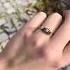 .45ctw Victorian 5 Stone OEC and Emerald Band 5