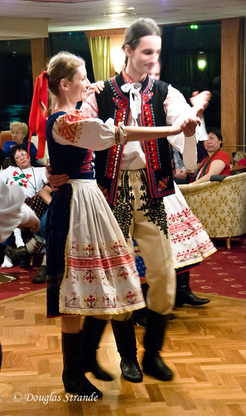 Folk dancers aboard our ship