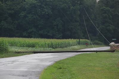 Pole Down, Dairy Road, Tamaqua (7-18-2012)
