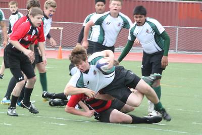 Rugby - Peninsula Green HS Rugby Club vs. Marin Highlanders - March 31, 2012