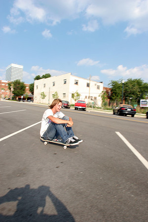 Skate Demonstration on Lady St. at Gallery 80808
