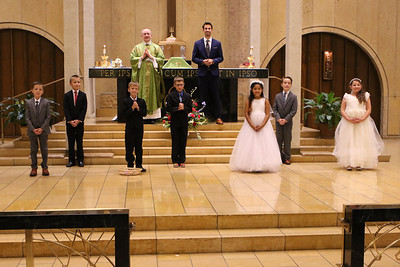First Communion Aug 9 2020 Individual, Family, Group