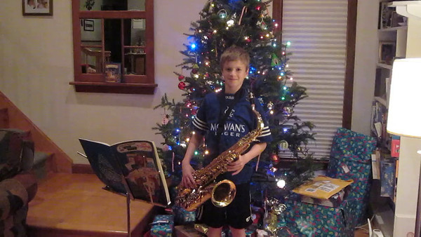 Mark on Sax Christmas 2013