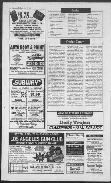 Summer Trojan, Vol. 128, No. 10, July 17, 1996