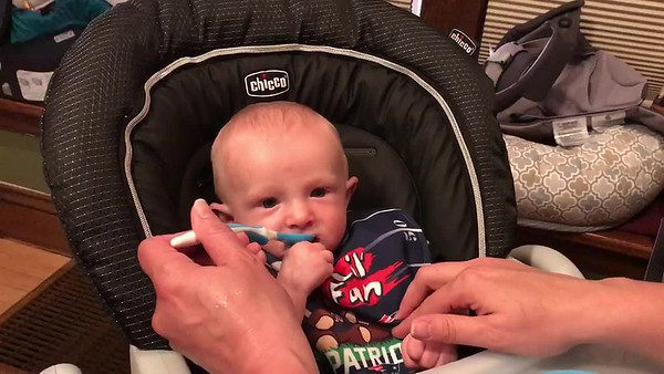 Liam videos 1st eating and 1st pool & Kids singing