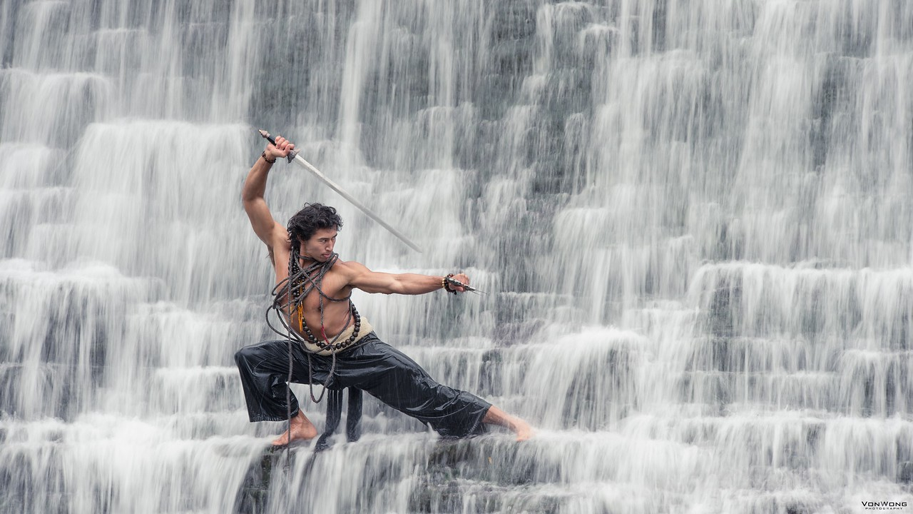Warrior in the falls