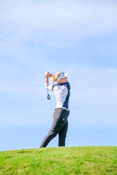 Nína Björk Geirsdóttir.  Íslandsmót golf 2019 Grafarholt - 1. keppnisdagur. Mynd: seth@golf.is