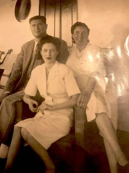 1945- a bordo - Familia Fernandes
