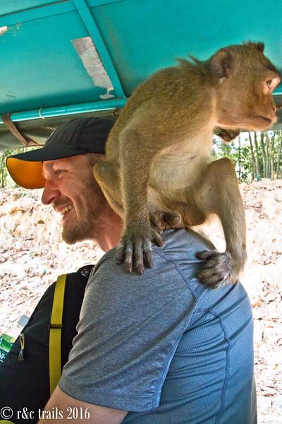 so he climbed on Jeff's back