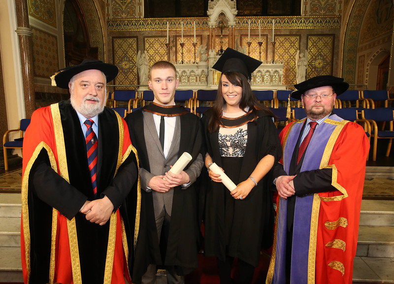 Pictured is Jack Walsh, Deputy Chairperson Govering body, Meave Breathnach, Kilmacow, Co Kilkenny who graduated Bachelor of Business (Hons), Michael Lyng, Waterford and Dr. Derek O'Byrne, Registrar of Waterford Institute of Technology (WIT). Picture: Patrick Browne.