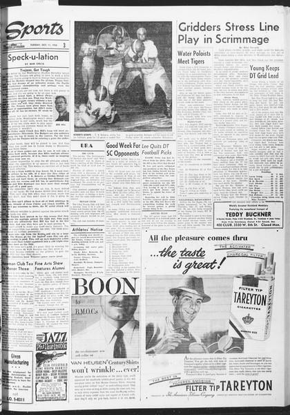 Daily Trojan, Vol. 47, No. 18, October 11, 1955