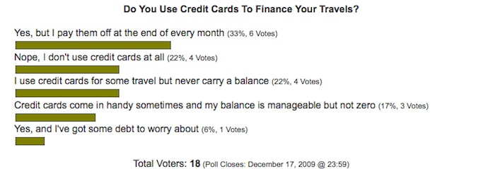 traveler credit card debt