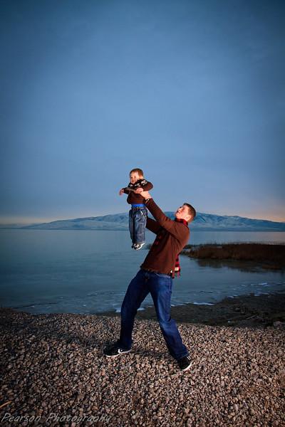 Family Pictures Taken by Utah Lake in Orem, Utah.