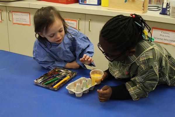 Kindergarten Egg Tempera Chicken Paintings