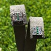Art Deco Diamond and Emerald Disc Earrings 3