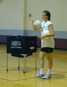 SNHS Volleyball Practice 2001