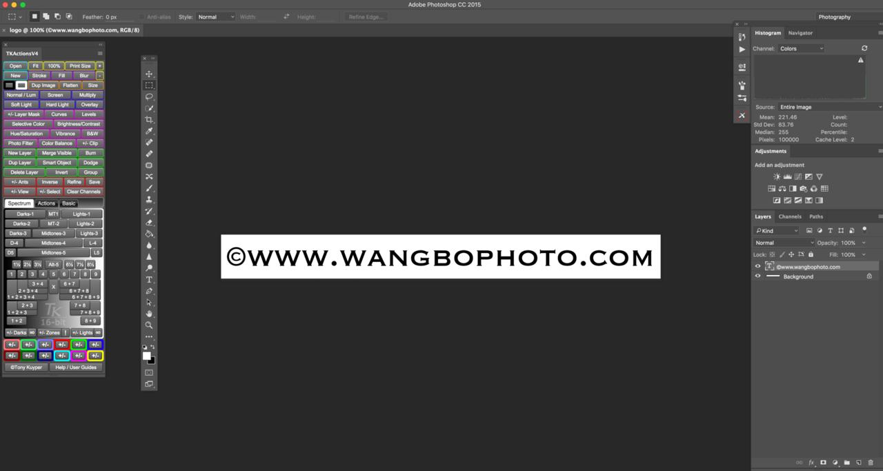 如何在photoshop里给自己照片加个水印 - 一镜收江南 - 清韵