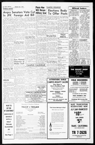 Daily Trojan, Vol. 55, No. 33, November 07, 1963