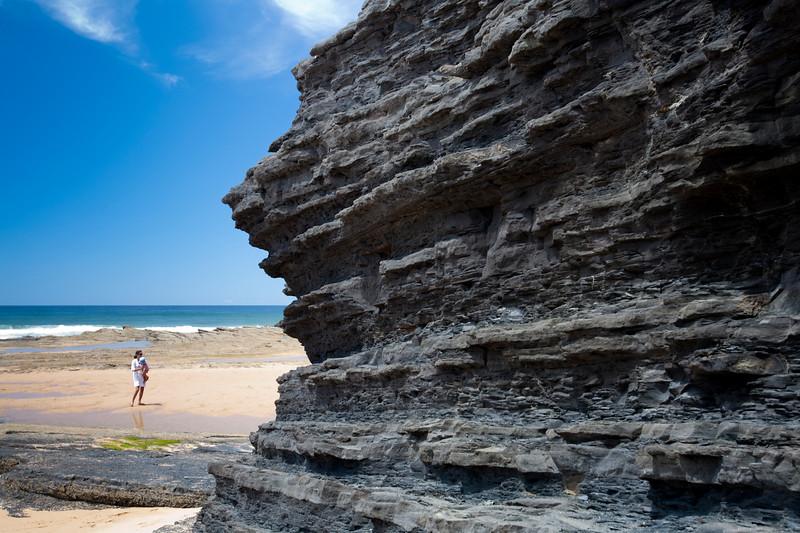 Monte Clerigo beach, town of Aljezur, district of Faro, region of Algarve, southwestern Portugal
