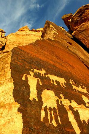 Native American Rock Art, visions of art and spirit.