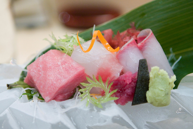 Course #4: Sashimi on Carved Ice