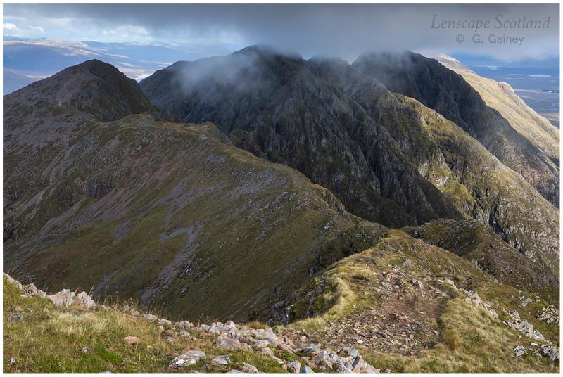 Aonach Eagach ridge from Sgorr nam Fiannaidh (1)