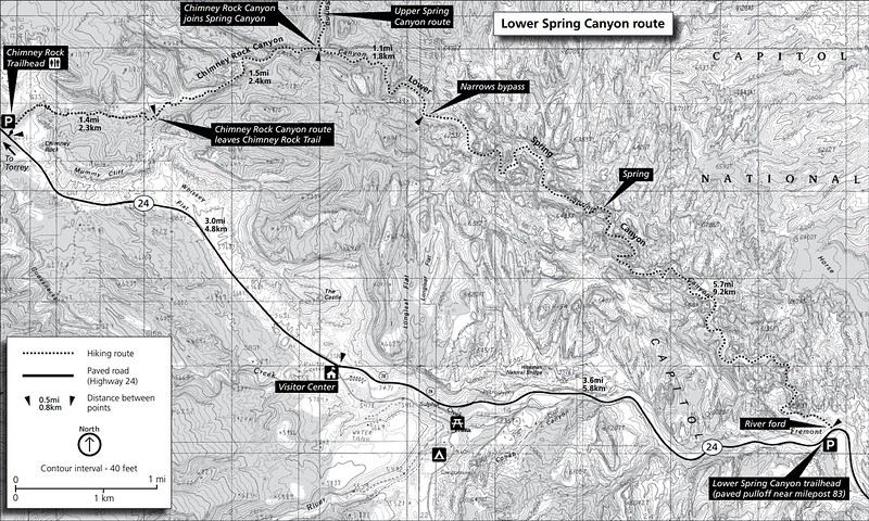 Capitol Reef National Park (Spring Canyon Area Trails - Lower)