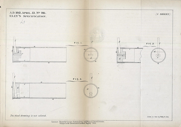 Drawing from William Thomas Eley's 1861 patent
