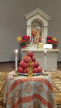 End of the year Divine Liturgy and the blessing of Pomegranates