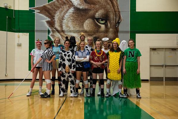 Varsity Volleyball Halloween Practice for Regionals - 2018