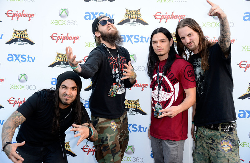 . Band Suicide Silence arrives at the 5th Annual Revolver Golden Gods Award Show  at Club Nokia on May 2, 2013 in Los Angeles, California.  (Photo by Frazer Harrison/Getty Images)