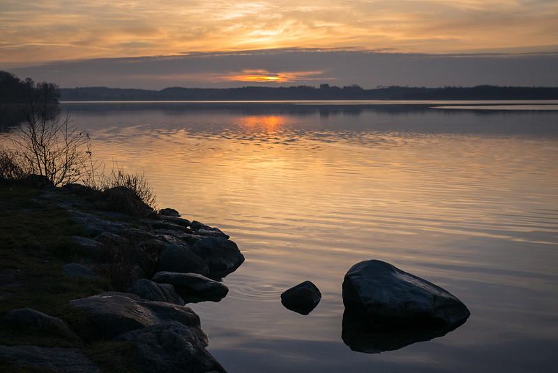 Sonnenuntergang am Wörthsee, Steinebach, Oberbayern, Bayern, Deutschland
