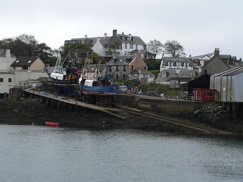 Up for hull reworking in Mallaig: It's a genuine, working fishing town to this day.