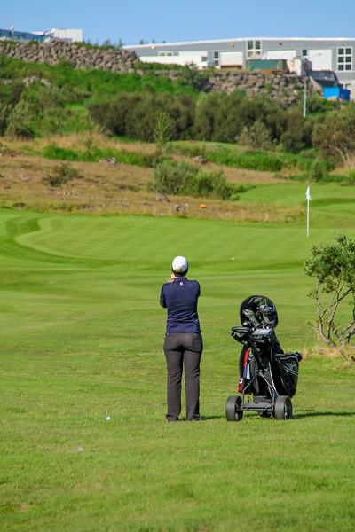 Ingunn Einarsdóttir.  Íslandsmót golf 2019 Grafarholt - 1. keppnisdagur. Mynd: seth@golf.is