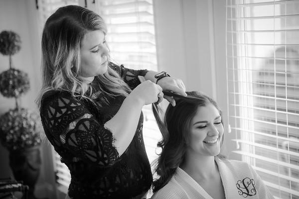 Shelby & Adam B/W Wedding Photos