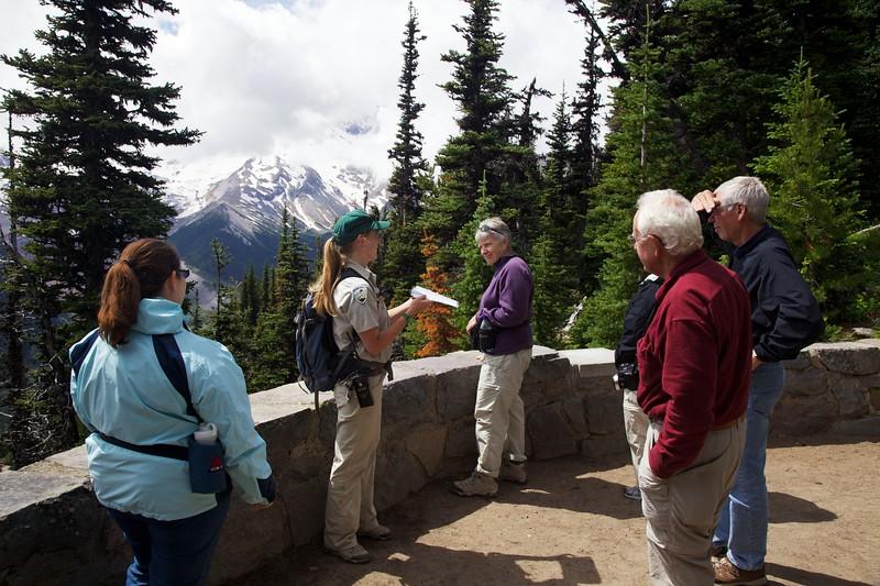 A young ranger naturalist describes the geology of Mount Rainier.