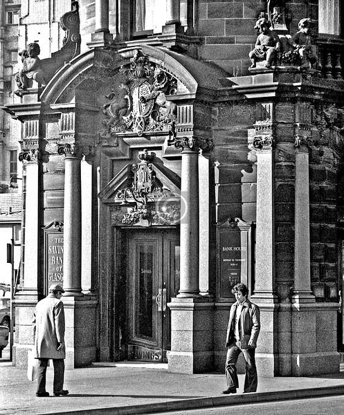 New City Rd, Glasgow Savings Bank.  February 1976