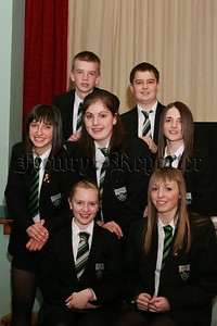 The Academic Class Prize winners at Rathfriland High School prize night.  48-23-06.