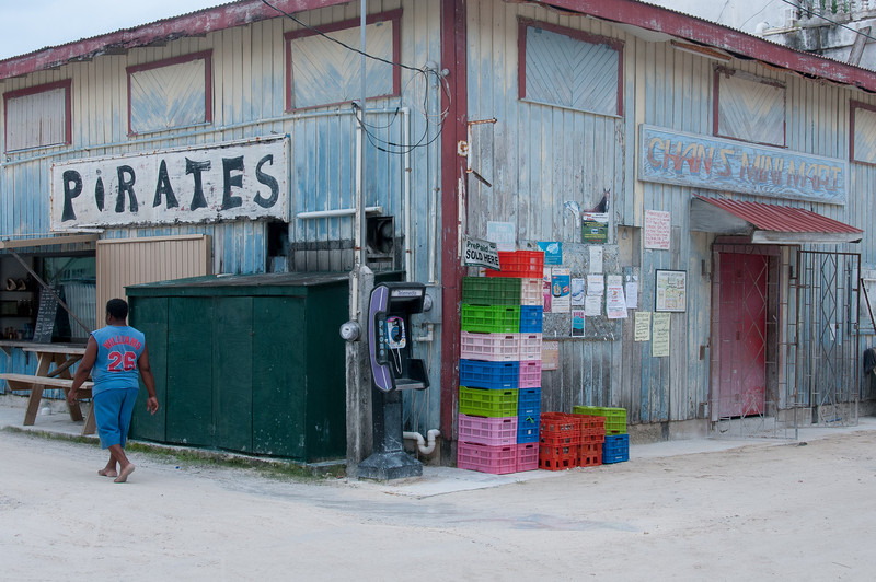 Stores in Caye Caulker, Belize
