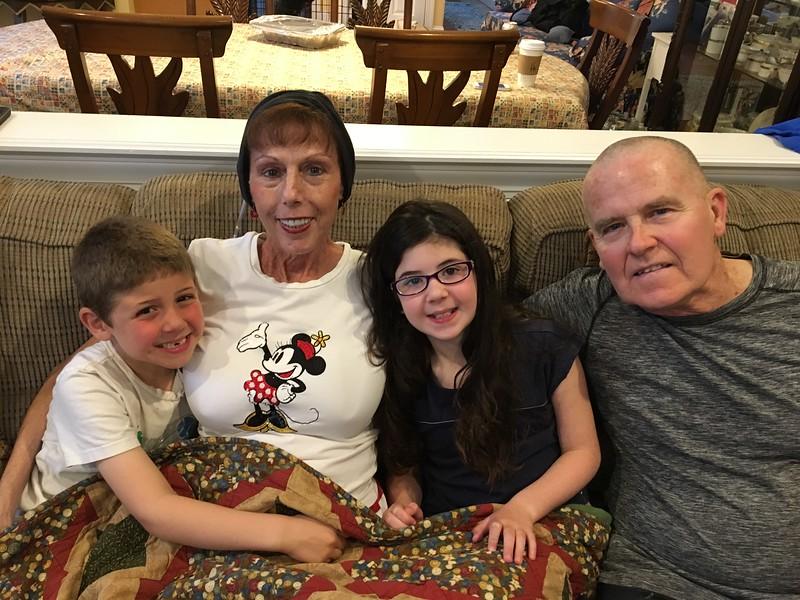 Watching Frozen with Grandma & Grandpa!