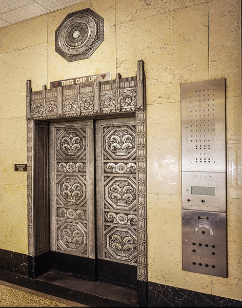 Elevator at AT&T building in Dayton OH