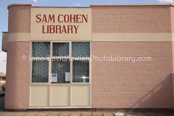 NAMIBIA, Swakopmund. Sam Cohen Library (2.2013)