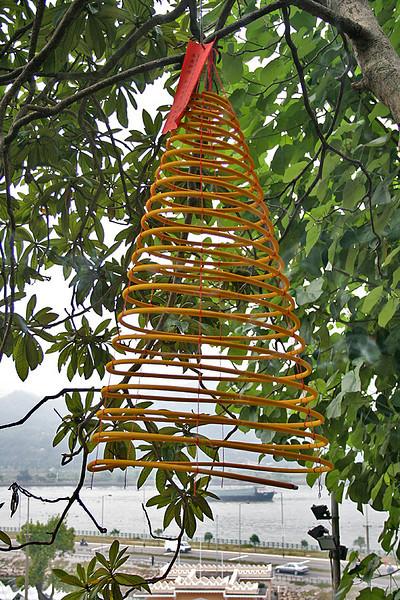 Make a wish - spiral incense stick at A-Ma temple, Macau