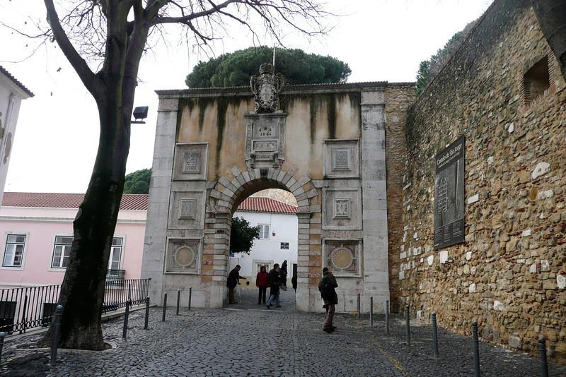 Main Entrance. Castelo de São Jorge, Alfama, Lisbon