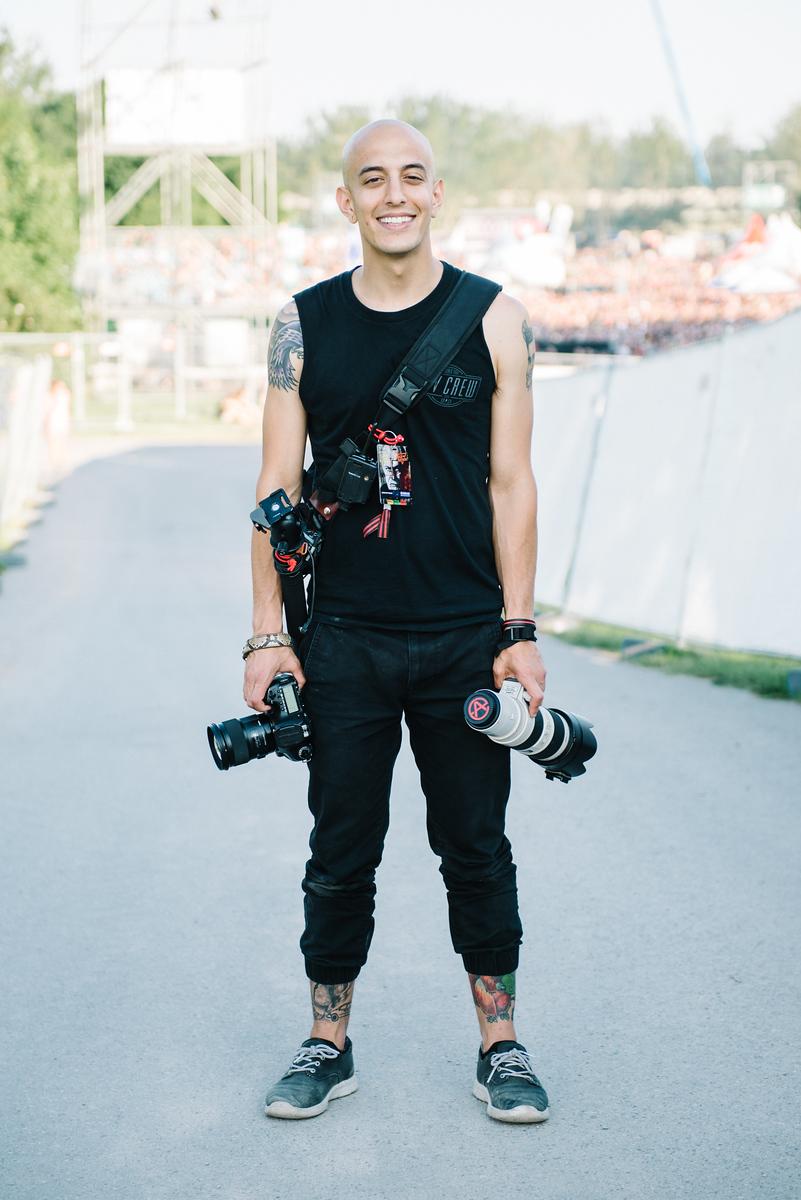 Adam Elmakias Gear Photo by Matthias Hombauer - European Festivals