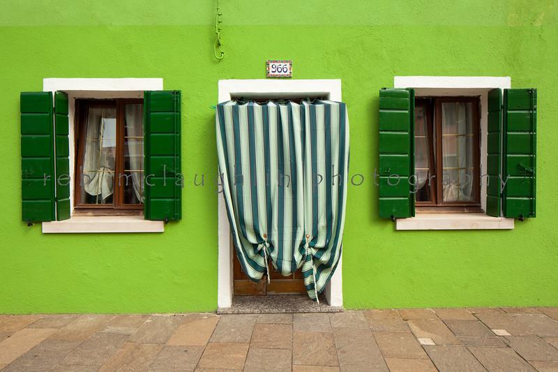 Green Shutters at 966 , Burano , Veneto