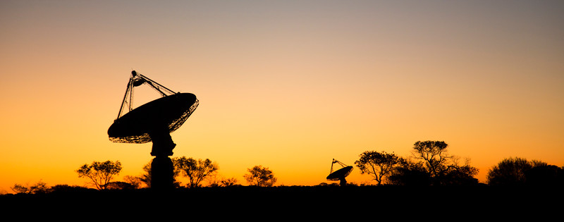 Dish antennas belonging to CSIRO's Australian Square Kilometre Array Pathfinder (ASKAP).