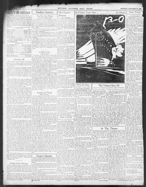 Daily Trojan, Vol. 24, No. 32, October 24, 1932